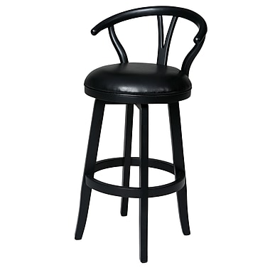 Red Barrel Studio Boutwell 31'' Swivel Bar Stool; Ballarat Black