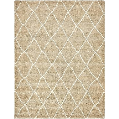 Red Barrel Studio Cynthiana Taupe Area Rug; Rectangle 9' x 12'