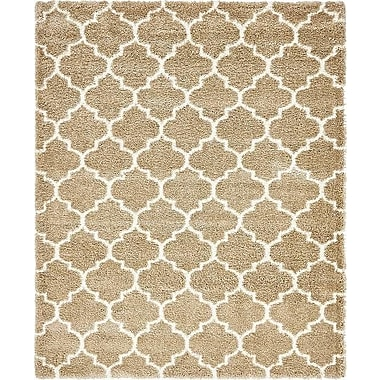 Red Barrel Studio Cynthiana Taupe Area Rug; Rectangle 8' x 10'