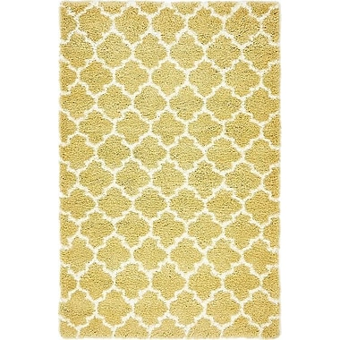 Red Barrel Studio Cynthiana Yellow Area Rug; Rectangle 5' x 8'