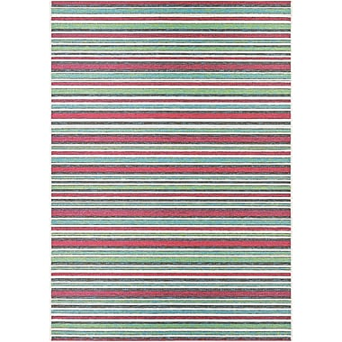 Red Barrel Studio Colesberry Pink/Green Indoor/Outdoor Area Rug; 6'6'' x 9'6''