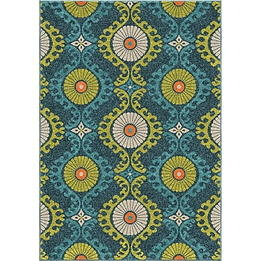 Red Barrel Studio America Blue Area Rug; 7'8'' x 10'10''