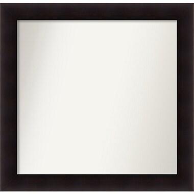 Red Barrel Studio Rectangle Wood Wall Mirror; 33.63'' H x 34.63 W'' x 0.88'' D