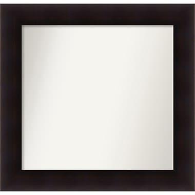 Red Barrel Studio Rectangle Wood Wall Mirror; 26.63'' H x 27.63 W'' x 0.88'' D