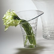 Red Barrel Studio Clear Glass Flair Vase