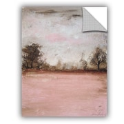 Red Barrel Studio Haddenham Pink Winter I Wall Decal; 32'' H x 24'' W x 0.1'' D