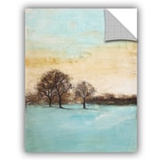 Red Barrel Studio Haddenham Blue Winter II Wall Decal; 32'' H x 24'' W x 0.1'' D