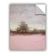 Red Barrel Studio Haddenham Pink Winter II Wall Decal; 32'' H x 24'' W x 0.1'' D
