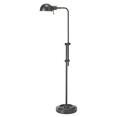 17 Stories Lucas 52'' LED Task Floor Lamp; Oil Brushed Bronze