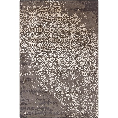 17 Stories Powell Grey Abstract Area Rug; 5' x 7'6''