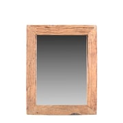 Union Rustic Natural Reclaimed Accent Wall Mirror; 50'' H x 40'' W x 1'' D