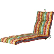 World Menagerie Outdoor Spun Polyester Chaise Lounge Cushion; Cotrell Garden