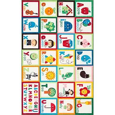 Zoomie Kids Rebekah Kids Alphabet Red/Green Area Rug; Rectangle 5' x 7'5''