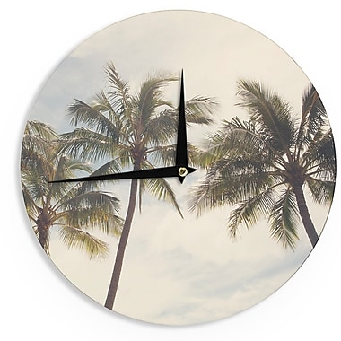 East Urban Home Catherine McDonald 'Boho Palms' 12'' Wall Clock
