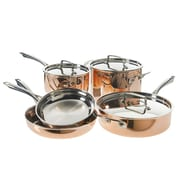 Cuisinart Copper Tri-Ply Stainless Cookware, Copper, Stainless Steel, 8-Piece Set (CTPP-8)
