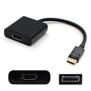 AddOn® DISPLAYPORT2VGA-5PK 0.67' DisplayPort 1.2 To VGA Male/Female Video Cable, Black