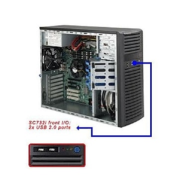 Supermicro® SuperChassis Mid Tower Server Case, Black (CSE-732I-500B)