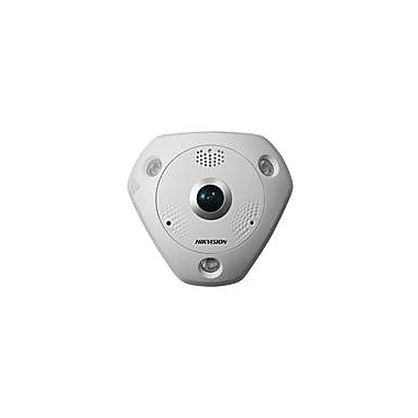 Hikvision® DS-2CD6332FWD-I Wired Indoor Fish Eye Network Camera, 3MP, White