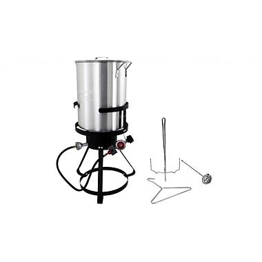 Chard® Aluminum 30 qt Outdoor Cooker Kit, Silver (TFP30A)