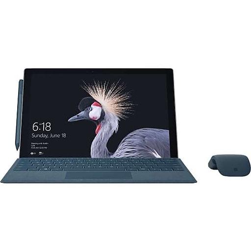 """Microsoft Surface Pro FJT-00001 12.3"""" 2-In-1 Tablet Kit, Intel Core i5, 128GB, 4GB, Windows 10 Pro, Intel HD 620"""