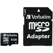 Verbatim 8 GB Premium microSDHC Memory Card with Adapter, UHS-I Class 10