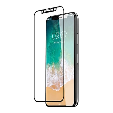 JCPal Preserver Glass Screen Protector for iPhone X, Black