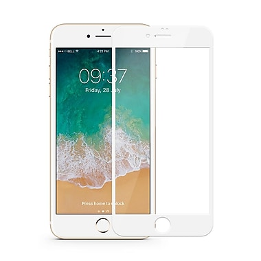 JCPal Preserver Glass Screen Protector for iPhone 8, White