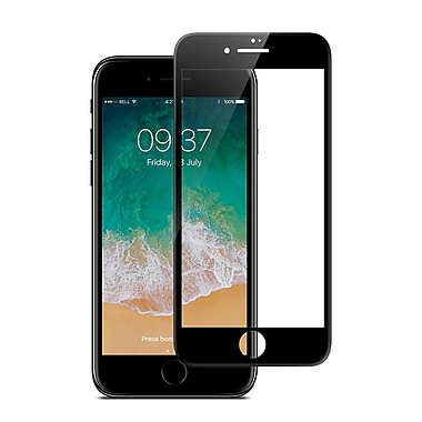JCPal Preserver Glass Screen Protector for iPhone 8, Black