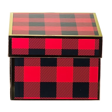 Creative Bag Festive 2-Piece Gift Boxes, 6 x 6 x 4.5