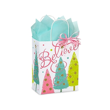 Creative Bag Holiday Paper Shopping Bags, 8 x 4 x 10