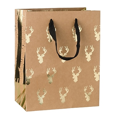 Creative Bag Holiday Paper Shopping Bags, 8 x 4.5 x 10