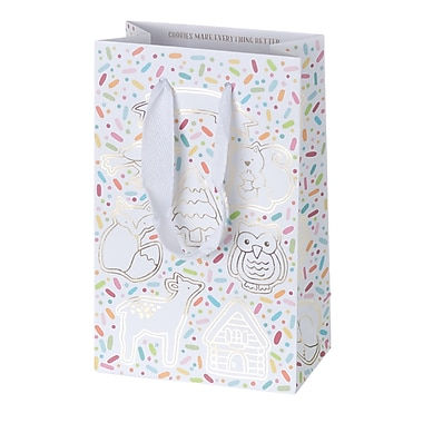 Creative Bag Holiday Paper Shopping Bags, 5 x 3 x 8