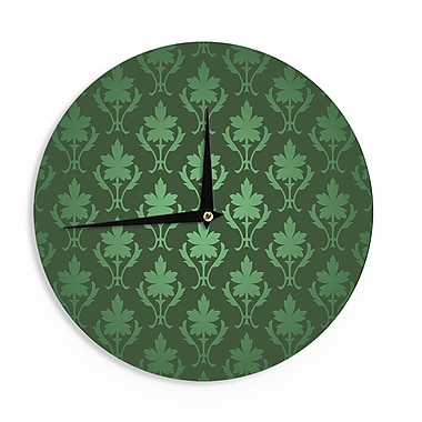 East Urban Home 'Emerald Damask' 12'' Wall Clock