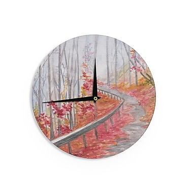 East Urban Home Rosie Brown 'Amicalola Falls' 12'' Wall Clock