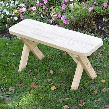 Loon Peak Sparta Wood Picnic Bench; Unfinished