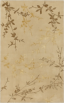August Grove Gonzalo Tan/Gold Rug; Rectangle 9' x 13'