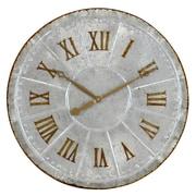 August Grove Oversized Galvanized Metal 28.5'' Wall Clock