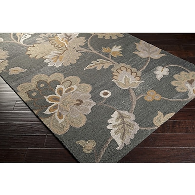 Charlton Home Quincy Pewter Area Rug; 8' x 11'