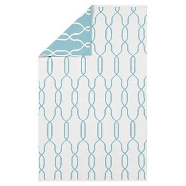 Charlton Home Radnor White/Blue Area Rug; 3'3'' x 5'3''
