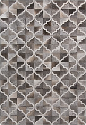 Darby Home Co Georgianne Gray Geometric Area Rug; Rectangle 5' x 8'