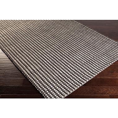 Gracie Oaks Stanford Charcoal/Ivory Area Rug; Rectangle 5' x 7'6''
