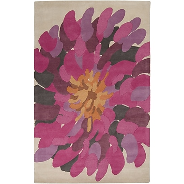 Ebern Designs Parson Fuchsia Area Rug; Rectangle 2' x 3'