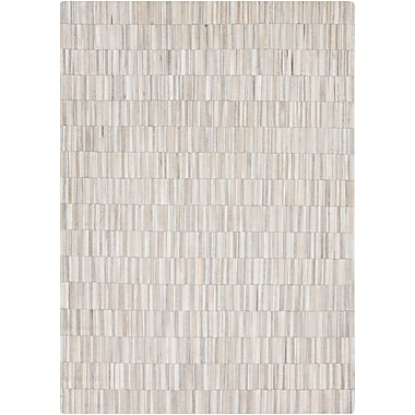 Union Rustic Harvey white / Medium Gray Area Rug; 8' x 10'
