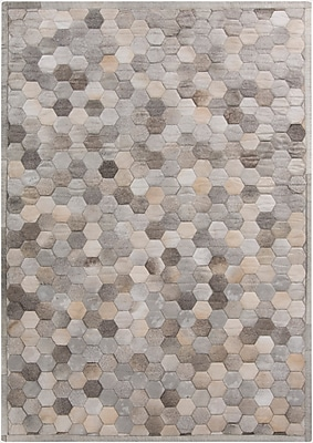 Williston Forge Penelope Hand Crafted Gray Area Rug; 2' x 3'
