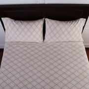Better Living Lovely Lace Printed Microfleece  Sheet Set; Twin