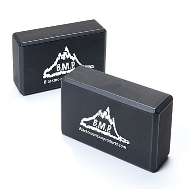 Black Mountain Products – Ensemble de deux blocs de yoga, 2/paquet, noir