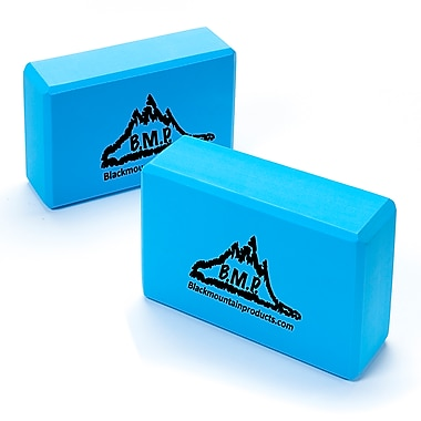 Black Mountain Products Set of Two Yoga Blocks, 2/Pack, Blue