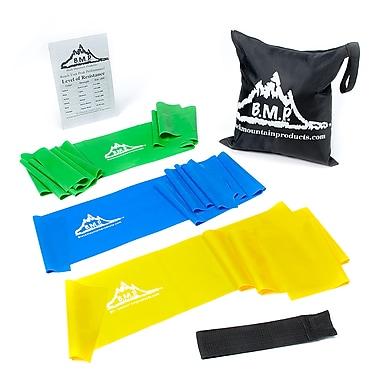 Black Mountain Products - Bandes d'exercice thérapeutique avec bande de résistance, étui, ancrage de porte et guide de démarrage