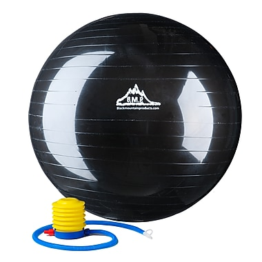 Black Mountain 2000 lb Static Strength Exercise Stability Ball with Pump Black, 65 cm