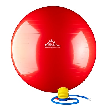 Black Mountain 2000 lb Static Strength Exercise Stability Ball with Pump Red, 85 cm